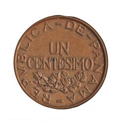 Panama 1  Centesimos. 1937. AE. 3,1gr. Ø19mm. SC-/SC. (Insig.puntito de oxid.Lev.patina). RARO/A. en esta conservacion. KM. 14