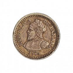 Panama 2,5  Centesimos. 1904. AG. 1,25gr. Ley:0,900. Ø10mm. EBC+. MUY ESCASO/A. KM. 1