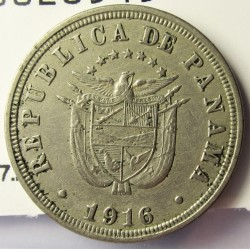 Panama 2,5  Centesimos. 1916. CUNI. 4,9gr. Ø21mm. MBC/MBC+. KM. 7.2