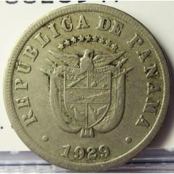 Panama 5  Centesimos. 1929. CUNI. 4,9gr. Ø21mm. MBC. KM. 9