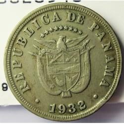 Panama 5  Centesimos. 1932. CUNI. 4,9gr. Ø21mm. MBC. KM. 9