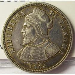 Panama 10  Centesimos. 1904. AG. 5gr. Ley:0,900. Ø23mm. MBC+/EBC-. MUY ESCASO/A. KM. 3