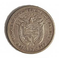 Panama 50  Centesimos. 1905. AG. 25gr. Ley:0,900. Ø36mm. MBC/MBC+. MUY ESCASO/A. KM. 5