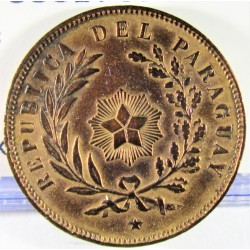 Paraguay 1 Cts. 1870. CU. 5,1gr. Ø25mm. MBC+. (Lev.limpiada). KM. 2