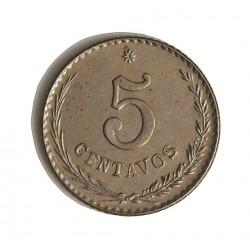 Paraguay 5 Ctvo. 1900. CUNI. 2gr. Ø17mm. EBC+/SC-. RARO/A. en esta conservacion. KM. 6