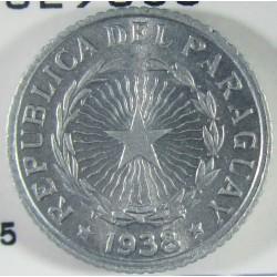 Paraguay 50 Ctvo. 1938. AL. 0,9gr. Ø17mm. SC-/SC. (Tono original). KM. 15