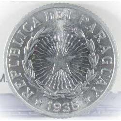 Paraguay 2 Pesos. 1938. AL. 1,76gr. Ø22mm. SC-/SC. (Tono original). MUY ESCASO/A. en esta conservacion. KM. 17
