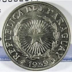 Paraguay 10 Pesos. 1939. CUNI. 8gr. Ø28mm. SC-/SC. (Lev.tono). MUY ESCASO/A. en esta conservacion. KM. 19