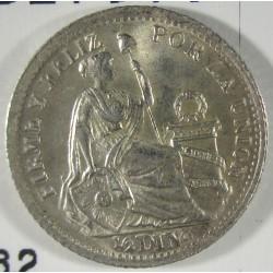 Peru ½  Dinero. 1903. /803. J.F.  AG. 1,25gr. Ley:0,900. Ø15mm. SC. (Tono original). KM. 206.2