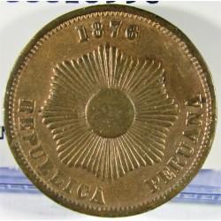 Peru 2  Ctvo.  1876. AE. 6,92gr. Ø24mm. MBC+. KM. 188.1a