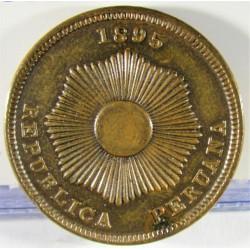 Peru 2  Ctvo.  1895. (W). AE. 6,92gr. Ø24mm. MBC+/EBC-. KM. 188.2