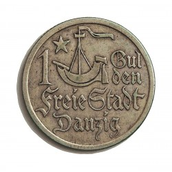 Polonia 1 Gulden. 1923. Danzig. AG. 5gr. Ley:0,750. Ø23mm. EBC. RARO/A. KM. 145