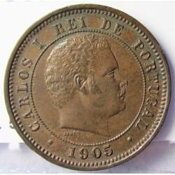 Portugal 5 Reis. 1905. AE. 2,8gr. Ø20mm. EBC+/SC-. KM. 530