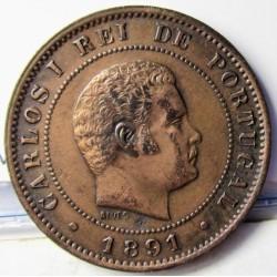 Portugal 10 Reis. 1891. AE. 6gr. Ø26mm. EBC+. KM. 532 - FERR. 13