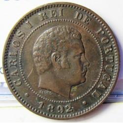 Portugal 10 Reis. 1892. AE. 6gr. Ø26mm. MBC. KM. 532 - FERR. 14
