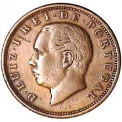 Portugal 20 Reis. 1883. CU. 12gr. Ø30mm. MBC-/MBC. KM. 527 - FERR. 38