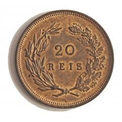 Portugal 20 Reis. 1891. CU. 12gr. Ø30mm. SC. (Casi todo su tono original). KM. 533 - FERR. 15