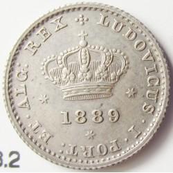 Portugal 50 Reis. 1889. AG. 1,25gr. Ley:0,917. Ø15mm. SC-/SC. KM. 506.2