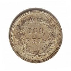 Portugal 100 Reis. 1893. AG. 2,5gr. Ley:0,917. Ø19mm. EBC+/SC-. KM. 531