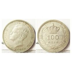 Portugal 100 Reis. 1910. AG. 2,5gr. Ley:0,835. Ø19,5mm. MBC+/EBC-. (muy bonita). KM. 548