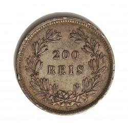 Portugal 200 Reis. 1862. AG. 5gr. Ley:0,917. Ø24mm. MBC+/EBC-. (Marquitas). KM. 507 - FERR. 72