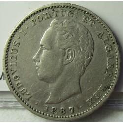 Portugal 200 Reis. 1887. AG. 5gr. Ley:0,917. Ø23mm. MBC. KM. 512