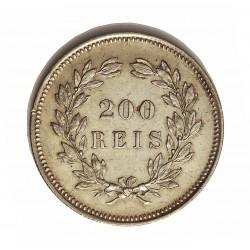 Portugal 200 Reis. 1891. AG. 5gr. Ley:0,917. Ø23,5mm. SC-/EBC+. KM. 534