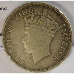 Rhodesia del Sur-(Britanica) ½ Corona. 1937. AG. 14,14gr. Ley:0,925. Ø32mm. MBC-. (Gpcto.cto.). KM. 13