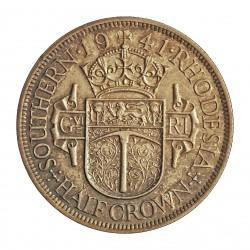 Rhodesia del Sur-(Britanica) ½ Corona. 1941. AG. 14,14gr. Ley:0,925. Ø32mm. EBC-/EBC. KM. 15
