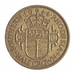Rhodesia del Sur-(Britanica) ½ Corona. 1944. AG. 14,14gr. Ley:0,500. Ø32mm. EBC-/EBC. KM. 15 a