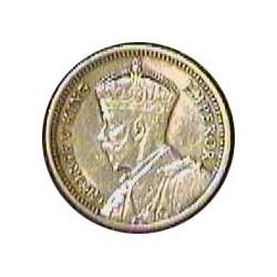 Rhodesia del Sur-(Britanica) 3 Pence. 1936. AG. 1,41gr. Ley:0,925. Ø16mm. EBC-/EBC. KM. 1