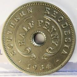 Rhodesia del Sur-(Britanica) ½ Penny. 1934. CUNI. 3gr. Ø20,5mm. EBC-. KM. 6