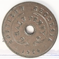 Rhodesia del Sur-(Britanica) ½ Penny. 1954. AE. 3gr. Ø20,5mm. EBC/EBC+. (Partina). KM. 28