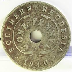 Rhodesia del Sur-(Britanica) 1 Penny. 1940. NI. 6gr. Ø27mm. MBC-. KM. 7