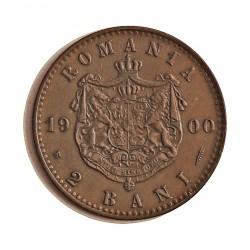 Rumania 2  Bani. 1900. B-(Bucarest). CU. 2gr. Ø20mm. SC-/SC. (Patina). KM. 27