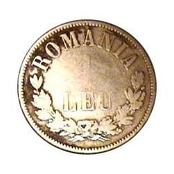 Rumania 1  Leu. 1873. Bruselas. AG. 5gr. Ley:0,835. Ø23mm. BC-/BC. KM. 10