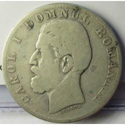 Rumania 2  Leu. 1881. Viena. AG. 10gr. Ley:0,835. Ø27mm. RC/BC. KM. 8