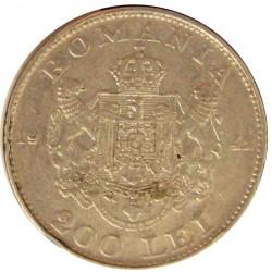 Rumania 200  Leu. 1942. AG. 6gr. Ley:0,835. Ø24mm. EBC+/EBC. KM. 63
