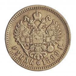 Rusia-IMPERIO 1 Rublos. 1899. CIIb-(St.Petersburg). AG. 19,996gr. Ley:0,900. Ø34mm. BC+/MBC-. KM. 59.3