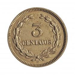 Salvador.-El 3 Ctvo. 1889. Heaton. CUNI. 4gr. Ø20mm. EBC+/SC-. KM. 107