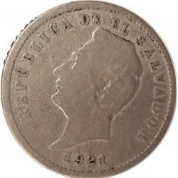 Salvador.-El 10 Ctvo. 1921. CUNI. 6,65gr. (Fco.Morazan). Ø26mm. MBC-. MUY ESCASO/A. KM. 130