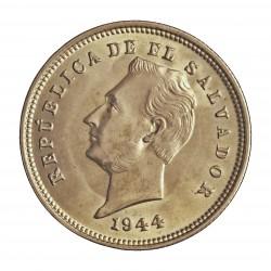 Salvador.-El 25 Ctvo. 1953. AG. 7,5gr. Ley:0,900. (F. Morazan). Ø28mm. SC. KM. 136
