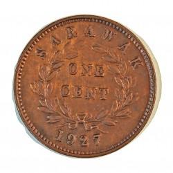 Sarawak 1 Cent. 1870. AE. 9,6gr. (Colonia Britanica). (C.V.Broke Raja II). Ø29mm. MBC/MBC+. (Bonita patina). KM. 6