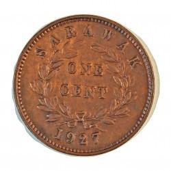 Sarawak 1 Cent. 1927. H-(Heaton). AE. 3gr. (Colonia Britanica). (C.V.Broke Raja II). Ø24,5mm. MBC+. (Bien limpiada). KM. 18
