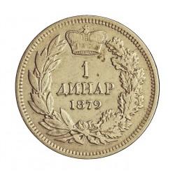 Serbia 1  Dinara. 1879. AG. 5gr. Ley:0,835. Ø23mm. MBC. KM. 10