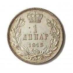 Serbia 1  Dinara. 1915. AG. 5gr. Ley:0,835. Ø23mm. SC-/SC. KM. 25.1