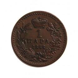 Serbia 1  Para. 1868. CU. 1gr. Ø15mm. SC-/SC. MUY ESCASO/A. en esta conservación.  KM. 1.1