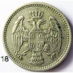 Serbia 5  Para. 1884. CUNI. 2,8gr. Ø17mm. MBC+. KM. 18