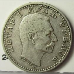 Serbia 50  Para. 1904. AG. 2,5gr. Ley:0,835. Ø18mm. MBC/MBC+. KM. 24.1