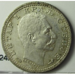 Serbia 50  Para. 1915. AG. 2,5gr. Ley:0,835. Ø18mm. SC-/SC. (Lev.patina). KM. 24.1